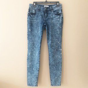 CAbi Constellation Acid Wash Skinny Jeans Size 2